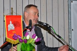 """Bertram Schacher bei seiner Rede """"Kommunalwahl in Puschendorf – Chaos oder Chance?"""""""